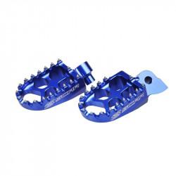 Repose-pieds Scar Evolution bleu pour Yamaha Yamaha 85,125,250,450 YZ/YZ-F/WR-F