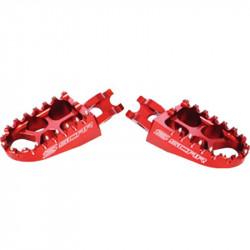 Repose-pieds Scar Evolution rouge pour Honda CR,CRF & Kawasaki KXF
