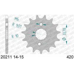 Pignon Afam acier pour Honda CRF150-R (petites roues) 07-15
