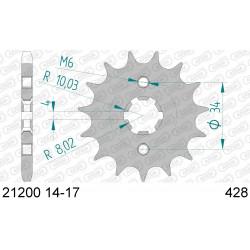 Pignon Afam acier pour Beta RR125 06-12