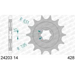 Pignon Afam acier pour Kawasaki KLX125 10-13