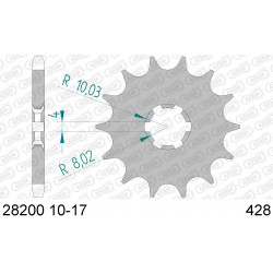 Pignon Afam acier pour Suzuki RM85 (petites roues) 02-15