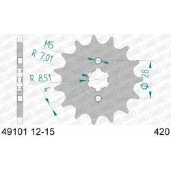 Pignon Afam acier pour Kawasaki KLX110 03-09
