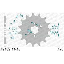 Pignon Afam acier pour Kawasaki KLX110 01-02