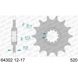 Pignon Afam acier pour Husaberg FC450 04-07