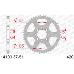 Couronne Afam Acier pour Kawasaki KLX110 01-13