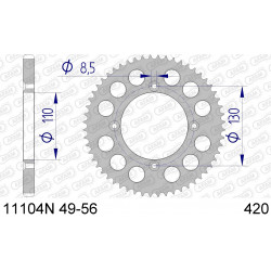 Couronne Afam Alu ultra-light pour Honda CR85R 03-07