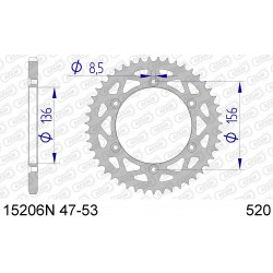 Couronne Afam Alu ultra-light pour Beta RR250 2T 05-07