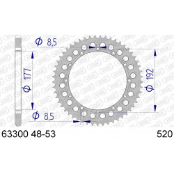 Couronne Afam Alu ultra-light pour Husqvarna TC510 87-89