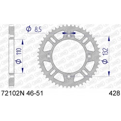 Couronne Afam Alu ultra-light pour KTM SX85 03-15