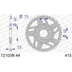 Couronne Afam Alu ultra-light pour KTM SX50 06-08