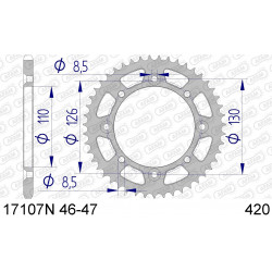 Couronne Afam Alu ultra-light pour Kawasaki KX65 02-15