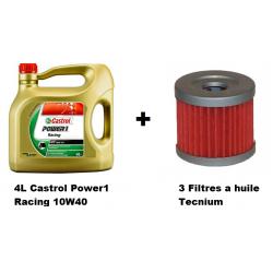 Pack 4L d'huile Castrol Power 1 Racing 10W-40 + 3 Filtre a huile offert