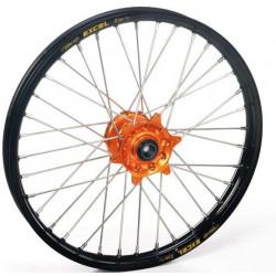 Roue avant Excel jante noire/moyeu orange pour KTM SX65 02-15