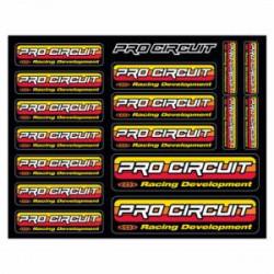 Planche d'autocollants Pro Circuit