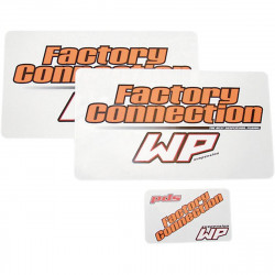 Autocollants de protection de fourche Factory Connection - White Power