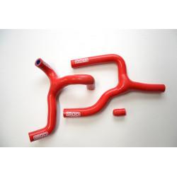Durites de radiateurs d'eau motos IROD Rouge pour Beta 350RR 4 temps en Y 12-17