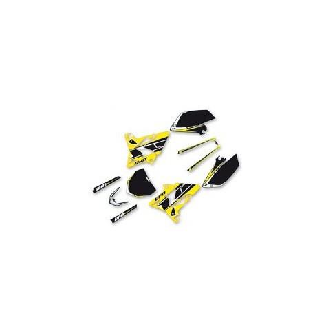 41877 Kit Deco Ufo Pour Yamaha 125yz 02 17 Kit Plastique Replica Yzf Pour Plastique Couleur Jaune