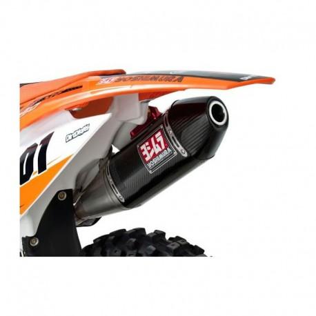 Ligne complète Yoshimura RS4 Collecteur Titane/Silencieux et embout Carbone pour KTM SX-F450 12-15