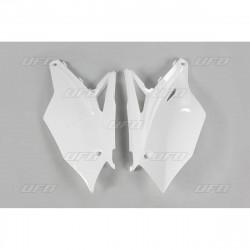 Plaques numéro latérales Ufo Plast pour Kawasaki KX250F 17
