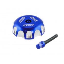 Bouchon de réservoir Prostuf bleu/alu pour Kawasaki KLX450 08-15