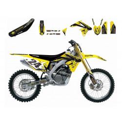 Kit déco + Housse de selle Blackbird réplica Rockstar Energy Drink pour Suzuki RM125/250 01-09