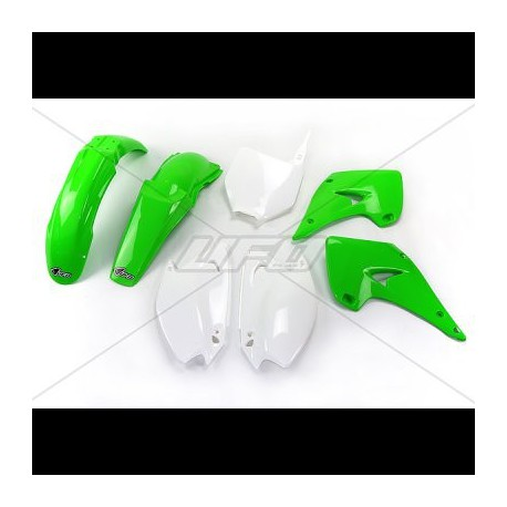 kit plastique ufo plast pour kawasaki kx125 03 04 pi ces d tach es moto cross mud riders. Black Bedroom Furniture Sets. Home Design Ideas