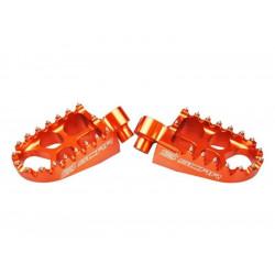 Repose-pieds Scar Evolution orange pour Husaberg/Husqvarna/KTM/Sherco
