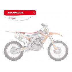 Housse de selle Bicolore Blanc/Rouge pour Honda CRF250R 14-17/CRF450R 13-16