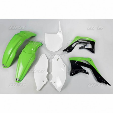 kit plastique ufo plast pour kawasaki kx450f 12 pi ces d tach es moto cross mud riders. Black Bedroom Furniture Sets. Home Design Ideas