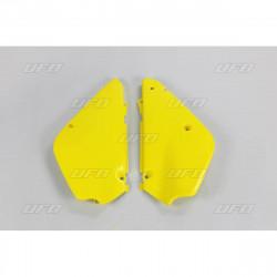 Plaques numéro latérales Ufo Plast pour Suzuki RM85 00-19