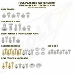 Kit visserie plastique complet pour KTM SX,SX-F 16-18/Husqvarna TC,FC 16-18