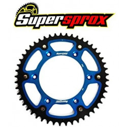 Couronne Supersprox Stealth bleue pour Yamaha WR250F 01-18