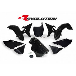 Kit Plastique et réservoir Révolution Racetech noir pour Yamaha YZ125/250 02-19