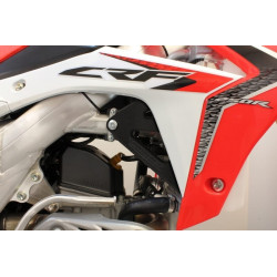 Protections de radiateurs Works Connection noires pour Honda CRF250R 14-17
