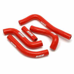 Durites de radiateurs DRC rouges pour Honda CRF250R 04-09