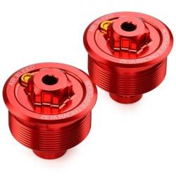 Bouchons de réglage de fourche Zeta rouge pour Honda CR85R 96-07