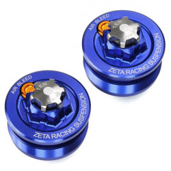 Bouchons de réglage de fourche Zeta bleu pour Yamaha YZ85 93-18