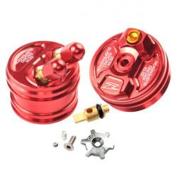 Bouchons de réglage de fourche Zeta rouge pour Honda CRF250R 15-17