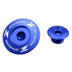 Bouchons moteur Zeta bleus pour Kawasaki KX250F 11-18