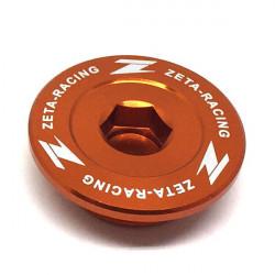 Bouchons moteur Zeta oranges pour KTM EXC-F250 12-18