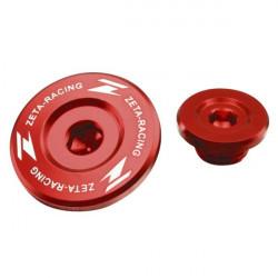 Bouchons moteur Zeta rouges pour Honda CRF250R 04-09