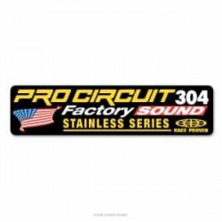 Autocollant de silencieux Pro Circuit 304 et 304 Shorty