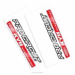 Autocollants de protection de fourche Pro Circuit - KAYABA
