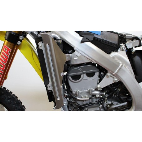 Protections de radiateur AXP Racing noires pour Suzuki RM-Z450 2018