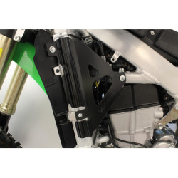 Protections de radiateurs Works Connection noires pour Kawasaki KX450F 2019