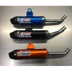 Silencieux HGS embout carbone pour KTM & Husqvarna 85 SX/TC 18-19