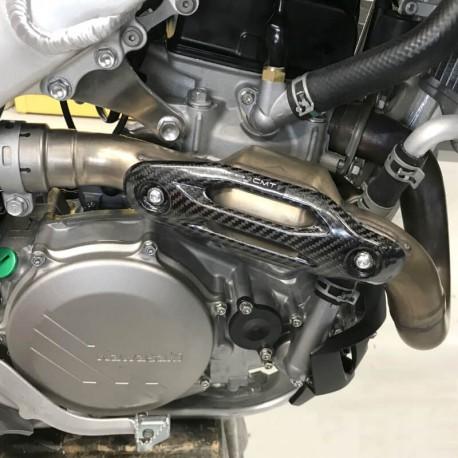 Protection carbone pour collecteur d'échappement pour Kawasaki KX450F 2019