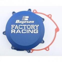 Couvercle de carter d'embrayage BOYESEN Factory Racing alu bleu Yamaha YZ450F 2011