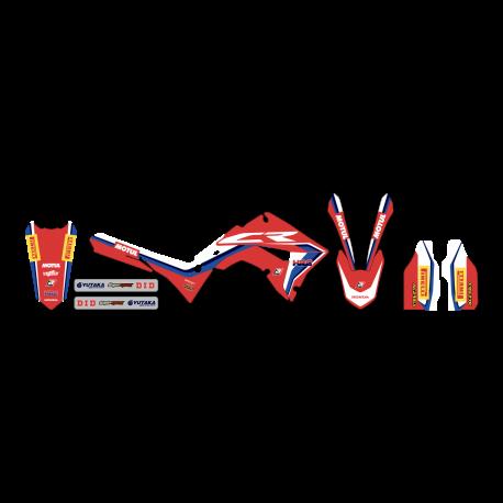 Kit déco Réplica Team HRC pour Honda CR125R/250R 02-07 (Plastiques Polisport restylés)